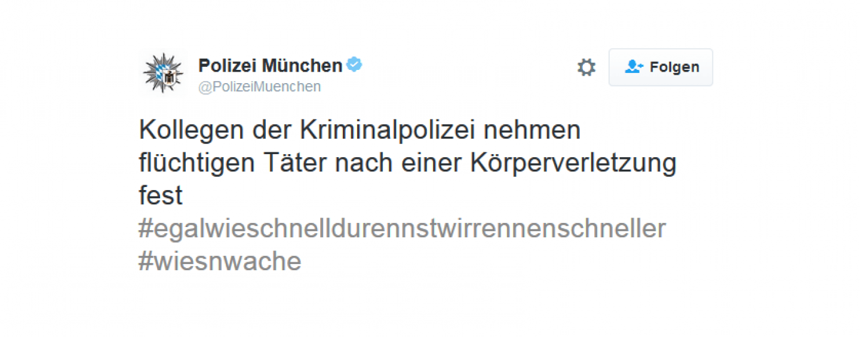 #egalwieschnelldurennst… die Münchener Cops sind schneller
