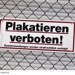 Verantwortung für Plakatierservice